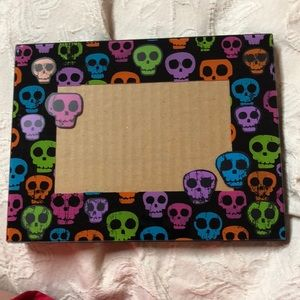 Other - Colorful skull 4x6 picture frame